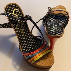 Jessica Simpson strap neon sandals